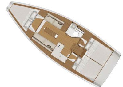 Plan dufour 350GL