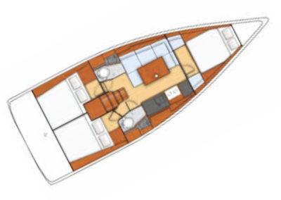 Plan Oceanis 38